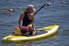 River Recreation (swong95765) Tags: woman recreation paddle river water dog pet ride