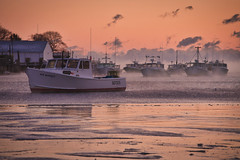 New Harbor on a Cold Day (GR Smith) Tags: mainecoast seasmoke frigid