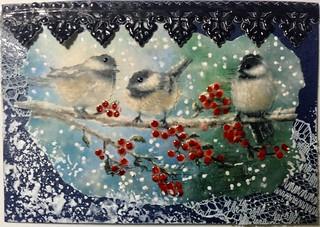 Winter Birds ATC #2