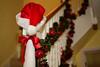 Stair decoration at Christmas (rtatn8) Tags: hertfordshire uk christmasdecor christmas santashat redribbon stairs handrail
