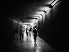 Tunnel (Vitor Pina) Tags: street streetphotography scenes streets shadows moments momentos monochrome man men mulher minimal urban urbano rua outdoor photography pretoebranco people pessoas contrast candid city cidade