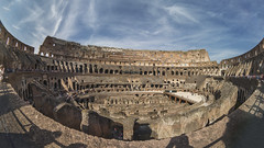 Coliseo romano (Explore Ene-03-2018) (José M. Arboleda) Tags: arquitectura coliseo romano ruina antigüedad antiguo patrimonio humanidad roma italia canon eos 5d markiii peleng fisheye josémarboledac
