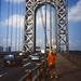 Self on the George Washington Bridge north side - Ektachrome - 1996
