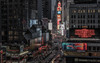 View on Times Square (reinaroundtheglobe) Tags: newyork ny nyc newyorkcity timessquare city cityscape streetphotography road traffic night nightphotography urban highangleview