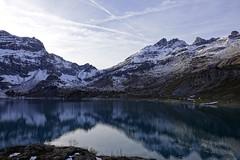 Salanfe lake - Switzerland - Mountain lake (Carandoom) Tags: 2017 switzerland lac lake montagne mountain ciel sky neige snow paysage eau water calme salanfe