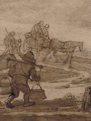 OSTADE Isaac,1644-49 - Paysage avec Voyageurs (drawing, dessin, disegno-Custodia) - Detail -r (L'art au présent) Tags: art painter peintre details détail détails detalles painting paintings peintures peinture17e 17thcenturypaintings peinturehollandaise dutchpaintings dutchpainters peintreshollandais tableaux paris fondation foundation france holland hollande animal animaux animals figures personnes man men hommes dog pet chien tree trees nature arbres chevaux traveller travellers ox boeufs boeuf oxes agriculture countryside campagne champs landscape isaack road chemin camino