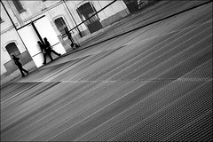 when the saints go marching in (bostankorkulugu) Tags: walk mirror window reflection fondazioneprada museum milan milano italia italy lombardy lombardia