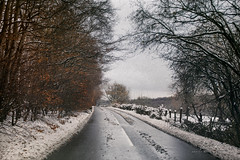 In the bleak mid winter III (kerto.co.uk) Tags: snow road winter wintry journey colours icey landscape kerto scenic trees hanging