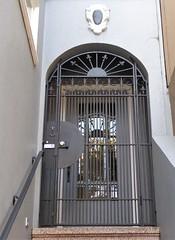 San Francisco, CA, Noe Valley, Elegant Doorway (Mary Warren 10.5+ Million Views) Tags: sanfranciscoca noevalley house residence victorian entrance door doorway portal blue architecture building arch wroughtiron metal