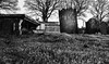 Coming Up..... (Tom McPherson) Tags: religious holy best artistic professional photographer pro prime 35mm fujifilm fuji xt2 acros explore ground earth hole grass crypt church graveyard spynie mono blackwhite gothic stone death dead cemetery grave
