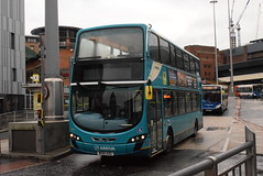 ANW 4466 @ Queen Square bus station, Liverpool (ianjpoole) Tags: arriva north west vdl db300 wright pulsar gemini mx61axg 4466