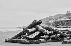 Brasilien 2017-18 Itapirubà Dielen (rainerneumann831) Tags: brasilien itapirubà strand meer bw blackwhite blackandwhite ©rainerneumann meeer dielen hügel dunst