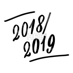 2018 2019 Written phrase, lettering by hand. (Hebstreits) Tags: background black calligraphy card celebrate date decoration design drawn event festive graphic greeting hand happy holiday icon illustration letter lettering new number postcard poster symbol text vector white year