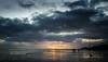 New Years Day Sunset (rhfo2o - Rick Hathaway Photography) Tags: rhfo2o canon canoneos7d elmer elmersands bognorregis westsussex sea seaside sky sun sunset horizon clouds beach reflection seadefences groynemarker