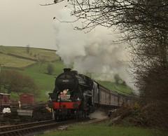 Black 5 (feroequineologist) Tags: oakworth black5 kwvr lms worthvalleyrailway worthvalley railway train steam santa