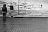 In front of the area of ice (pascalcolin1) Tags: paris13 hallefreyssinet photo femme woman ice glace glacier pavés pavement pluie rain reflets reflection photoderue streetview urbanarte noiretblanc blackandwhite photopascalcolin 50mm canon50mm canon