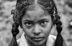 Innocent Face (jeevanan) Tags: cwc portrait temple koyembedu chennai village sea kasimedu trade black blackandwhite thiruneermalai dharasuram nikon d7000 flower market