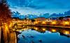 One Night in Rome III (Petr Horak) Tags: rome lazio italy ita europe city night lights bridge sky reflection water river riverbank