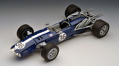 Eagle_01 (RoscoPC) Tags: formula1 formula car eagle weslake mark anglo american racers t1g dan gurney 1967 spa lego moc engine v12 technic