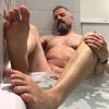 England visit bath. (silvpix) Tags: guy man beard bathtub soles barefoot barefeet