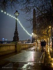 A Walk on the Embankment (amipal) Tags: 175mm capital city england gb greatbritain london lowlight manuallens night rain river thames uk unitedkingdom urban voigtlander wet