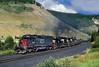 Pando coke train (Moffat Road) Tags: southernpacific sp coketrain unittrain nsgvc tennesseepass formerriogrande emd sd40t2 8542 pando colorado royalgorgeroute co