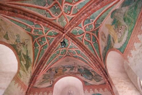 Sklepienie oratorium w wieży w zamku biskupim w Lidzbarku Warmińskim