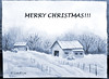 MERRY CHRISTMAS! (linfrye .) Tags: watercolor art landscape snow winter journal christmas barns