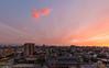 El primer atardecer (Eugercios) Tags: sunset atardecer santiago santiagodechile chile pôrdosol color colors skyline cityscape ciudad city cidade cielo rascacielos iglesia church igreja nube nubes scenic scenery america southamerica sudamerica