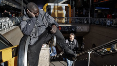 Art of relaxation. (Baz 120) Tags: candid candidstreet candidportrait city candidface candidphotography contrast colour street streetphoto streetcandid streetphotography streetportrait sony a7 fullframe urban life primelens portrait people italy italia grittystreetphotography faces decisivemoment strangers