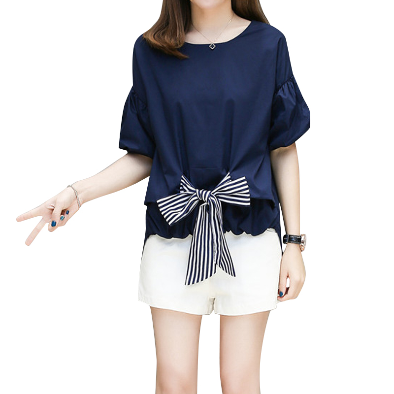 The coat shorts two piece set large size women hide meat fat mm short sleeved summer 2017 fashion suit cover the belly