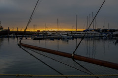 Sunset in the Helsingborg marina (frankmh) Tags: sunset marina helsingborg skåne sweden outdoor