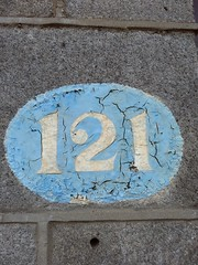 121 (Bobfantastic) Tags: aberdeen scotland uk city urban granite numbers paint font texture decay historical preservation