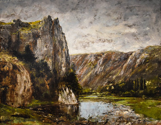 Gustave Courbet - Rocky Landscape, 1858 at New Orleans Museum of Art - New Orleans LA