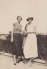 On the Terrace at St Germain-en -Laye with Miss Alma Phillips 1933 (Bury Gardener) Tags: blackandwhite bw oldies old vintage france paris 1930s 1933 scans snaps people folks europe