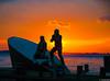 American Merchant Mariners Memorial (charlie_guttendorf) Tags: americanmerchantmarinersmemorial guttendorf manhattan memorial nyc newyork newyorkcity nikon18200mm nikond7000 statue batterypaek sunset