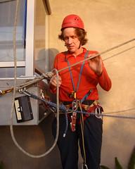 015 Matt Reshuffles His Gear (saschmitz_earthlink_net) Tags: 2017 california southerncaliforniagrotto christmasparty losangelescounty baldwinhills windsorhills party climbing practice