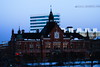 Rådhuset (viktor.bostrom) Tags: rådhus town hall hotel hotell umeå snow ice snö is crane lyftkran old house hus rex cold kallt winter vinter