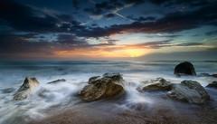 The sea is rough (Massetti Fabrizio) Tags: sunrise sun sunlight sea seascape landscapes landscape light lee red adriatico nikond3 carlzeiss21mmf28