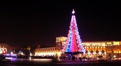 Merry Christmas (Alexanyan) Tags: merry christmas yerevan armenia tree republic square capital city christianity christian hayasdan armenie caucasia night light