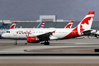 Air Canada Rouge   Airbus A319   C-GBHZ   Las Vegas McCarran