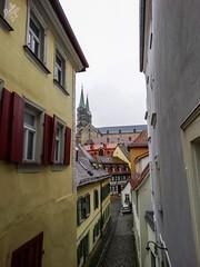 Vicoli di Baviera. Bamberga (diegoavanzi) Tags: bamberga bamberg baviera bayern germania germany deutscheland old town città vecchia sony hx300 bridge vicolo lane