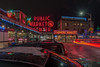 Snow At The Market (KVNphoto) Tags: seattle pikeplacemarket nightphotography lighttrails longexposure nikon