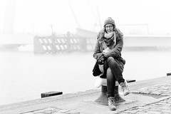 PORTrait of Rotterdam (frank_w_aus_l) Tags: nebel rotterdam anna fog portrait urban city monochrome d810 5814 nikkor nikon sw bw noiretblanc netb port winter cold zuidholland niederlande nl