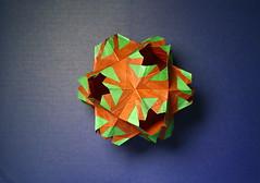 IOIO 2017: Ariadne's Crown (IG: bartfartsart) Tags: origami paper art hobby interest fun kusudama crown