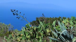 La Gomera (Spain's Canary Islands) - West Coast & the island El Hierro in the dusk