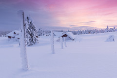 Pastel Sunset in Norway (Rob Kints (Robk1964)) Tags: 2015 hedmarkfylke norwegian opplandfylke sjusjøen lillehammer noorwegen norge norway sjusjoen snow winter