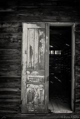 Lost Door (Russ Kerlin Photography) Tags: door barn weathered monochrome bw