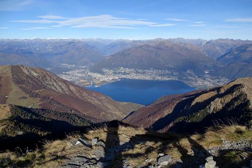 Blick auf Ascona und Locarno am Lago Maggiore