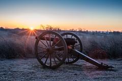 Winter sunrise at Perryville Battlefield State Park (sniggie) Tags: boylecounty civilwar perryville perryvillebattlefieldstatehistoricsite cannon dawn frost sunrise winter